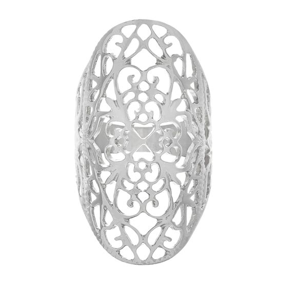 Imagen de Filigree Design Oval Ring in Stainless Steel