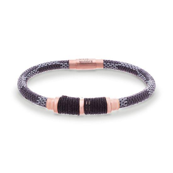 Imagen de Steve Madden Stainless Steel Braided Leather Wrap Cord Bracelet