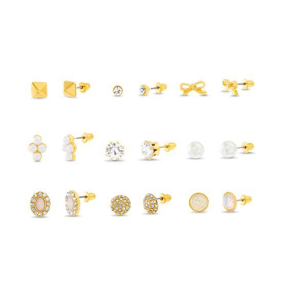Imagen de Steve Madden 9-Pair Stud Earrings Set Multi One Size