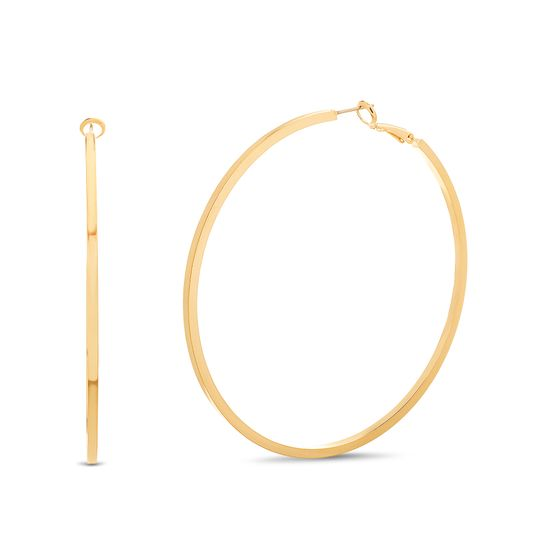 Picture of Steve Madden Post Clip Hoop Earrings Gold One Size
