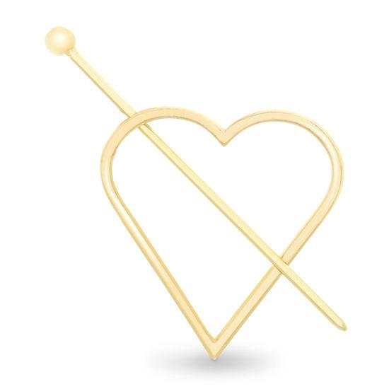 Imagen de Steve Madden Women's Heart Shaped Yellow Gold-Tone Hair Pin