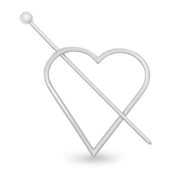 Imagen de Steve Madden Women's Heart Shaped Silver-Tone Hair Pin