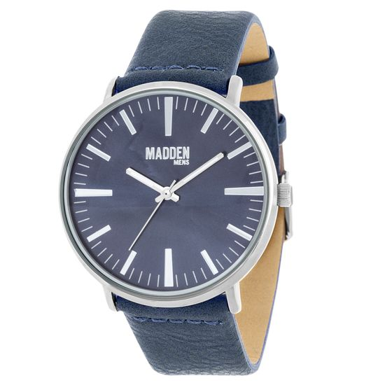 Picture of Steve Madden Navy Blue Analog Leather Men's Watch