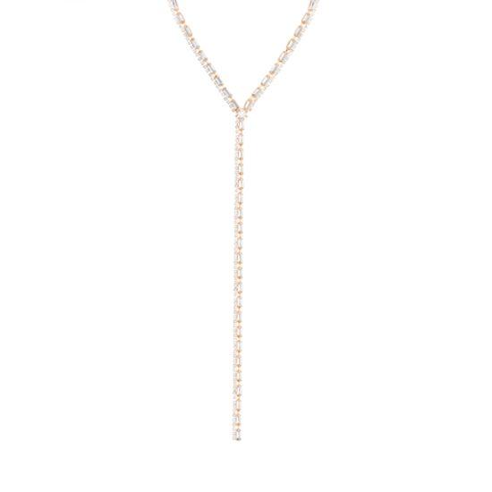 "Imagen de Steve Madden Women's Rhinestone Design Yellow Gold-Tone ""Y"" Necklace"