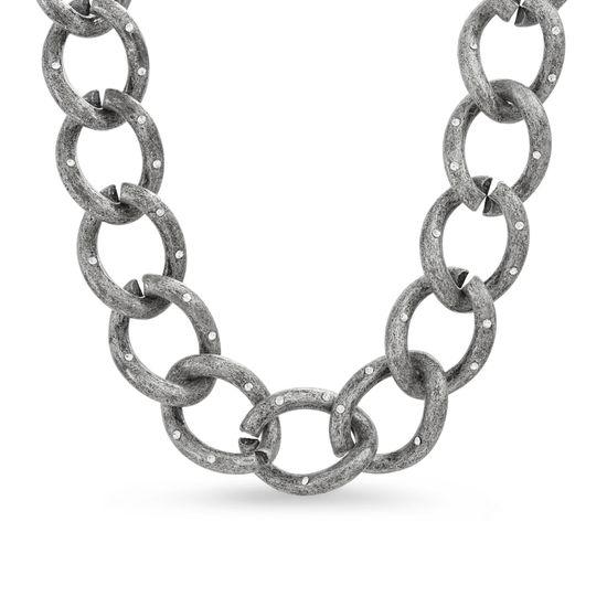 Imagen de Steve Madden Women's Large Curb Chain Magnetic Closure Collar Necklace Gunmetal-Tone One Size